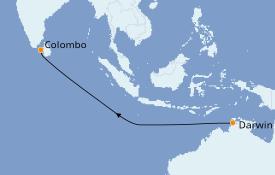 Itinéraire de la croisière Australie 2020 11 jours à bord du Seabourn Encore