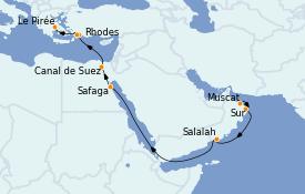 Itinéraire de la croisière Grèce & Adriatique 15 jours à bord du Silver Cloud Expedition