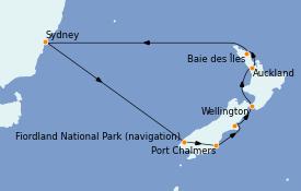 Itinerario de crucero Australia 2023 13 días a bordo del Royal Princess