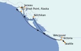 Itinerario de crucero Alaska 10 días a bordo del MS Regatta