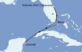Itinéraire de la croisière Bahamas 6 jours à bord du Jewel of the Seas