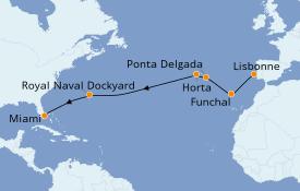 Itinéraire de la croisière Îles Canaries 15 jours à bord du Seven Seas Explorer