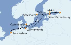 Itinéraire de la croisière Mer Baltique 13 jours à bord du Celebrity Reflection