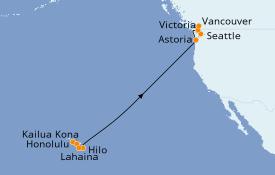 Itinéraire de la croisière Hawaii 14 jours à bord du Celebrity Eclipse