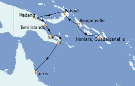 Itinéraire de la croisière Australie 2021 12 jours à bord du Le Lapérouse