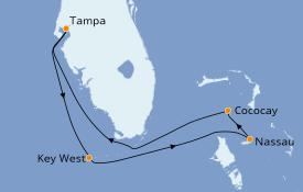 Itinéraire de la croisière Bahamas 6 jours à bord du Brilliance of the Seas
