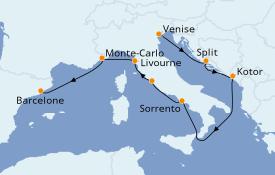 Itinéraire de la croisière Méditerranée 10 jours à bord du Azamara Journey