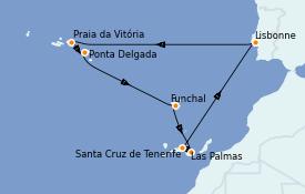 Itinéraire de la croisière Îles Canaries 10 jours à bord du Norwegian Star