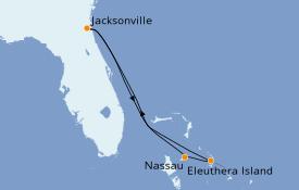 Itinéraire de la croisière Bahamas 6 jours à bord du Carnival Ecstasy