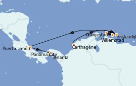 Itinéraire de la croisière Caraïbes de l'Est 10 jours à bord du Norwegian Jewel