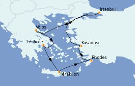 Itinéraire de la croisière Grèce & Adriatique 9 jours à bord du Celestyal Experience