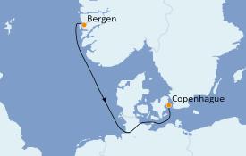 Itinéraire de la croisière Mer Baltique 3 jours à bord du