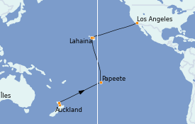 Itinéraire de la croisière Australie 2023 22 jours à bord du Majestic Princess