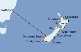 Itinéraire de la croisière Australie 2021 11 jours à bord du Norwegian Jewel