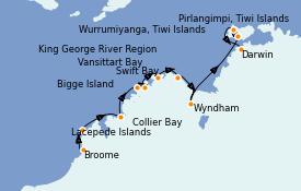 Itinéraire de la croisière Australie 2021 14 jours à bord du Le Lapérouse
