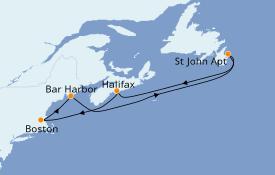 Itinéraire de la croisière Canada 7 jours à bord du Jewel of the Seas