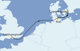 Itinéraire de la croisière Mer Baltique 4 jours à bord du MSC Meraviglia