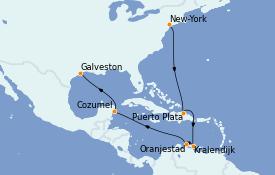 Itinéraire de la croisière Caraïbes de l'Est 13 jours à bord du Norwegian Prima