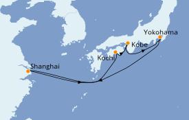 Itinéraire de la croisière Asie 8 jours à bord du Sapphire Princess