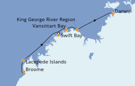 Itinéraire de la croisière Australie 2022 11 jours à bord du Le Lapérouse