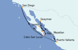 Itinerario de crucero Riviera Mexicana 13 días a bordo del ms Zuiderdam