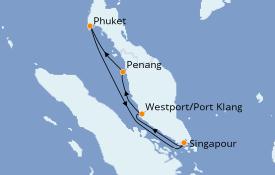 Itinéraire de la croisière Asie 8 jours à bord du Voyager of the Seas