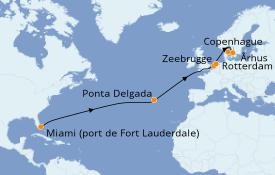Itinéraire de la croisière Mer Baltique 16 jours à bord du Sky Princess