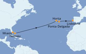 Itinéraire de la croisière Îles Canaries 15 jours à bord du Le Boréal