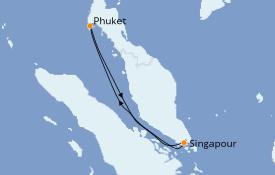 Itinéraire de la croisière Asie 5 jours à bord du Grand Princess