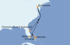 Itinéraire de la croisière Bahamas 9 jours à bord du Grandeur of the Seas