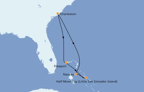 Itinéraire de la croisière Bahamas 6 jours à bord du Carnival Sunshine