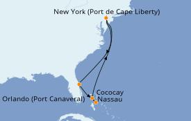 Itinéraire de la croisière Bahamas 8 jours à bord du Oasis of the Seas