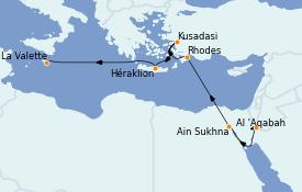Itinéraire de la croisière Grèce & Adriatique 11 jours à bord du Le Bellot