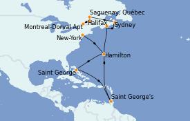 Itinerario de crucero Canadá 12 días a bordo del MS Insignia
