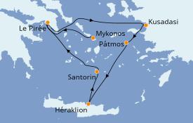 Itinéraire de la croisière Grèce & Adriatique 4 jours à bord du Celestyal Olympia