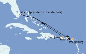 Itinéraire de la croisière Caraïbes de l'Est 8 jours à bord du Celebrity Edge