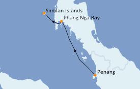 Itinéraire de la croisière Asie 8 jours à bord du Star Clipper