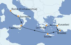 Itinéraire de la croisière Méditerranée 9 jours à bord du Silver Spirit