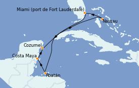 Itinéraire de la croisière Caraïbes de l'Ouest 8 jours à bord du Celebrity Edge