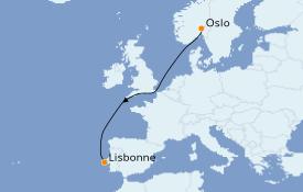 Itinéraire de la croisière Méditerranée 7 jours à bord du