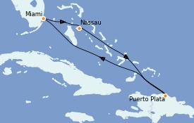 Itinéraire de la croisière Caraïbes de l'Est 6 jours à bord du Celebrity Summit