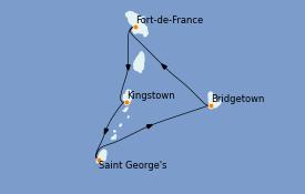 Itinerario de crucero Caribe del Este 6 días a bordo del Rhapsody of the Seas
