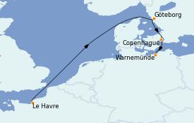 Itinerario de crucero Mar Báltico 5 días a bordo del MSC Poesia