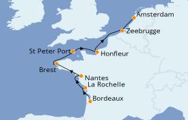 Itinéraire de la croisière Atlantique 10 jours à bord du Azamara Pursuit