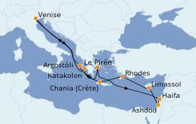 Itinéraire de la croisière Grèce & Adriatique 13 jours à bord du ms Westerdam