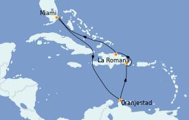 Itinéraire de la croisière Caraïbes de l'Est 9 jours à bord du Carnival Horizon