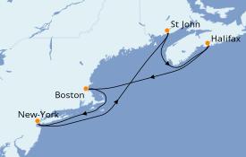 Itinéraire de la croisière Canada 8 jours à bord du Norwegian Joy