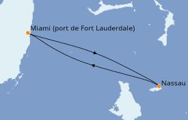 Itinéraire de la croisière Bahamas 3 jours à bord du Celebrity Apex
