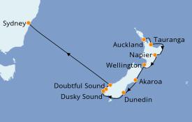 Itinerario de crucero Australia 2022 11 días a bordo del Norwegian Spirit