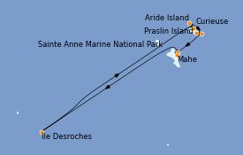 Itinéraire de la croisière Océan Indien 9 jours à bord du Le Bellot